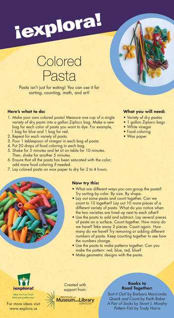 try this at home colored pasta